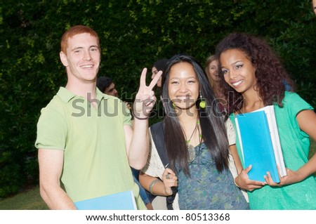 group students - stock photo