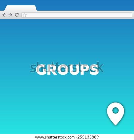 GROUPS - stock photo