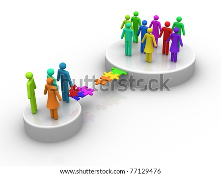 Groups - stock photo