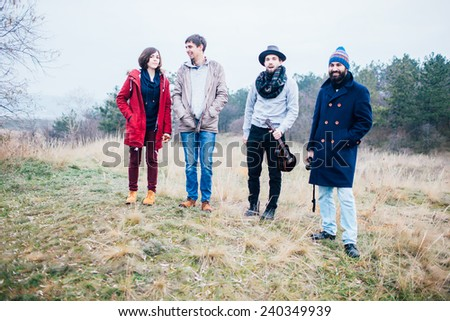 Groups of friends in the park.  - stock photo
