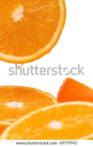Groups of oranges - stock photo