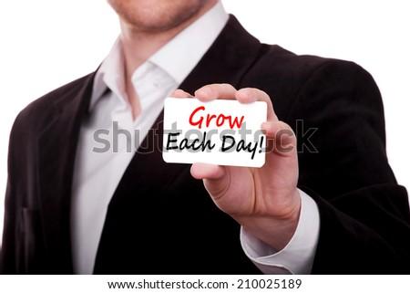 Grow Each Day concept - stock photo