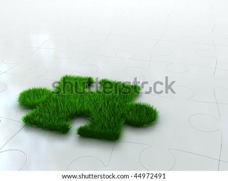 grow puzzle - stock photo