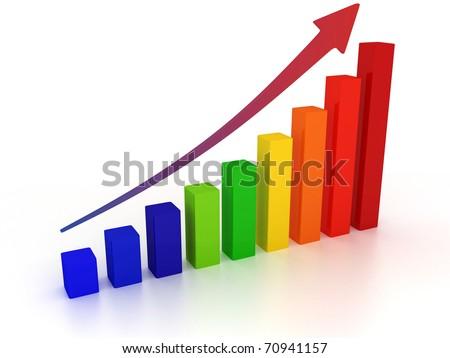 growing diagram - stock photo