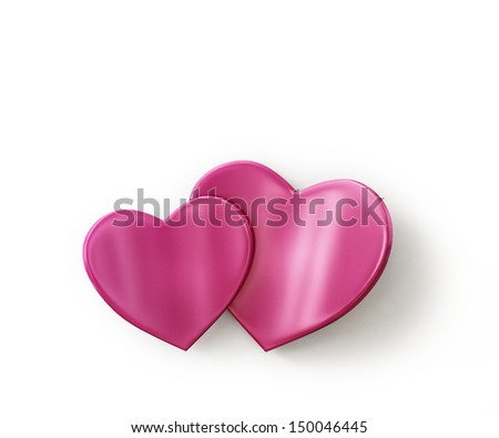 growing hearts love background - stock photo