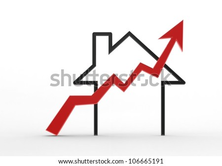 Growing home sale - stock photo