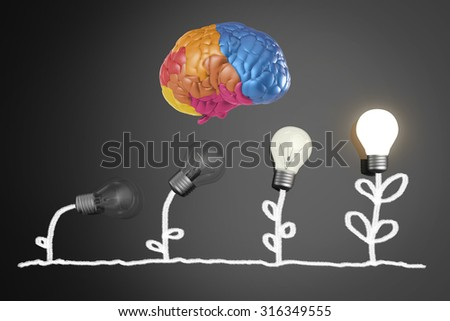 growing up concept illustration - stock photo