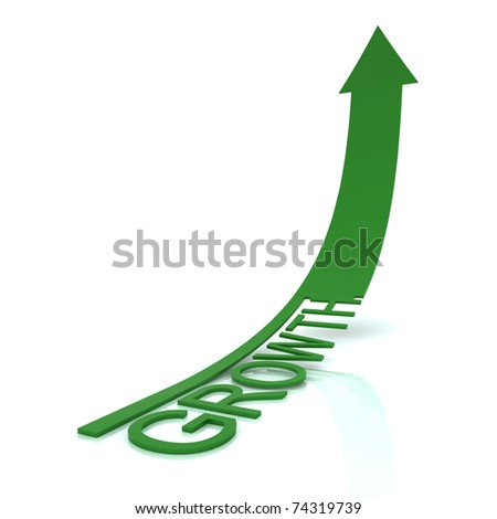 growth arrow - stock photo