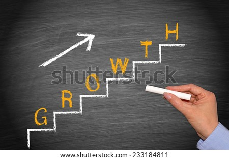 Growth - Business Concept on Chalkboard - stock photo