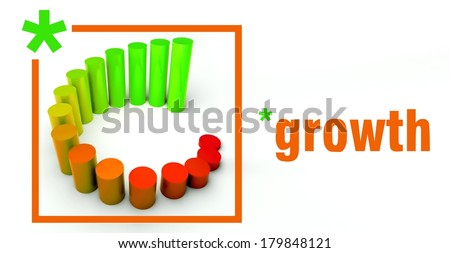Growth business concept, rising graph chart - stock photo