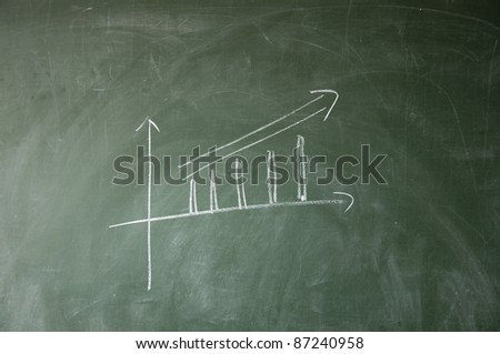 Growth chart - stock photo