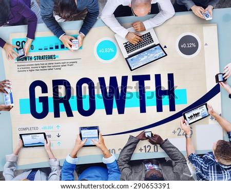 Growth Development Success Strategy Concept - stock photo