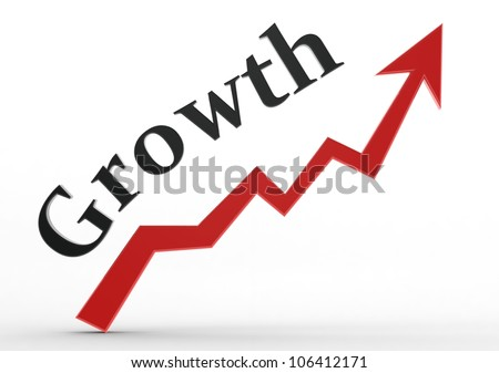 Growth graph - stock photo