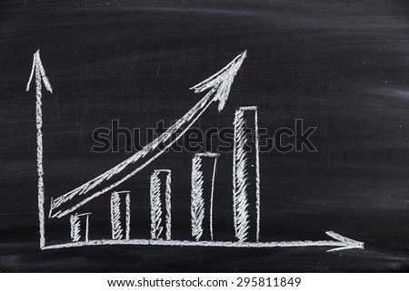 Growth, Graph, Chart. - stock photo