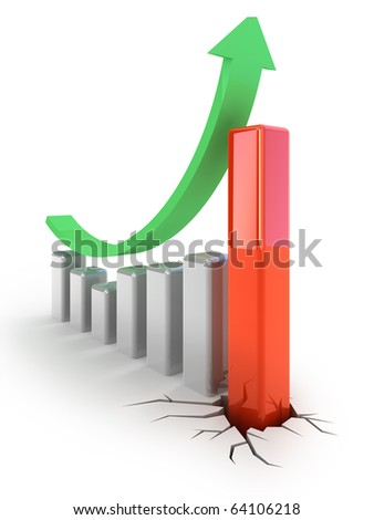 Growth graph concept - stock photo