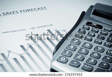Growth in sales - stock photo
