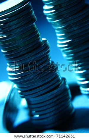 growth money rising coins - stock photo