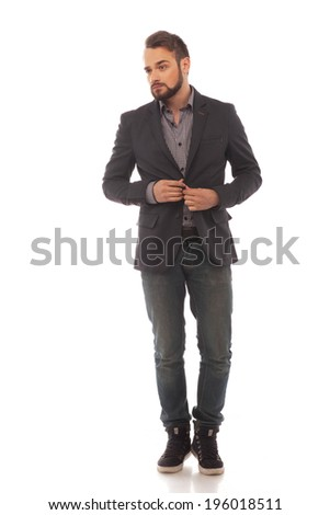 growth portrait of a handsome young man and