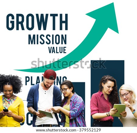 Growth Process Strategy Success Vision Increase Concept - stock photo