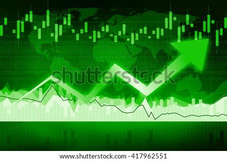 Growth/ prosperity business chart. - stock photo