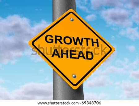 Growth recovery profits improvement profits Street Sign