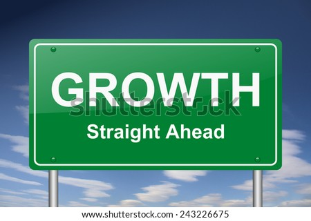 growth sign - stock photo