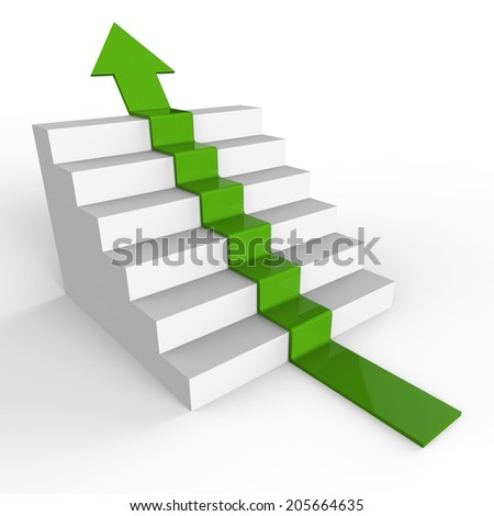 Growth Stairs Representing Rising Increase And Successful - stock photo