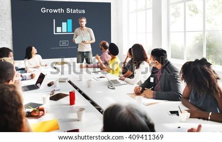 Growth Status Data Development Business Concept - stock photo