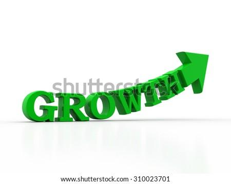 growth text arrow - stock photo