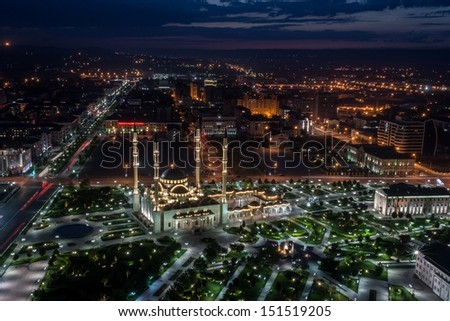 Grozny City in the night