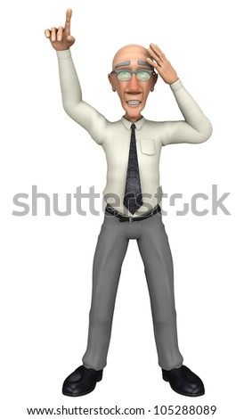 grump businessman idea - stock photo