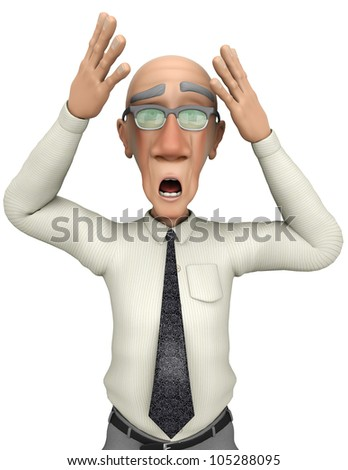 grump businessman oh no close up - stock photo