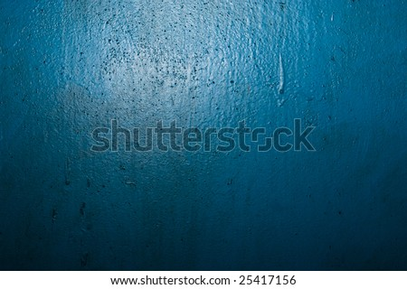 Grunge abandoned blue texture for design purpose