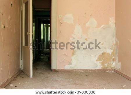 grunge abandoned room - stock photo