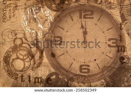 Grunge Abstract Background Time Concept - stock photo