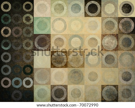grunge abstract graphic design background circles pattern - stock photo