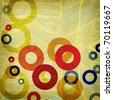 grunge abstract graphic design background circles with space for your text - stock photo