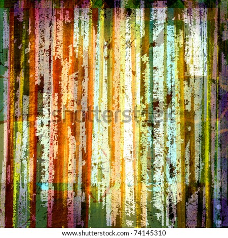 grunge abstract graphic design background with stripes - stock photo