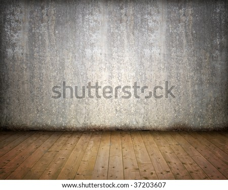 Grunge abstract interior