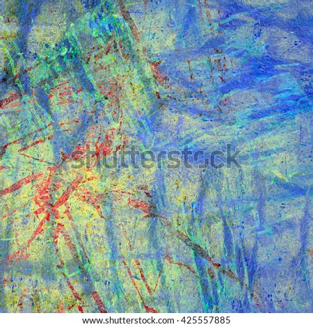Grunge abstract mottled background texture with spotty pattern wall - stock photo