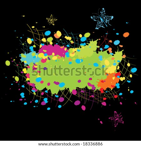 Grunge abstract stain Color explosion illustration