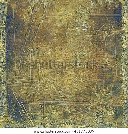 Grunge abstract textured background, aged backdrop with different color patterns: yellow (beige); brown; gray; blue - stock photo