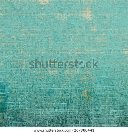 Grunge aging texture, art background. With different color patterns: yellow (beige); blue; cyan - stock photo