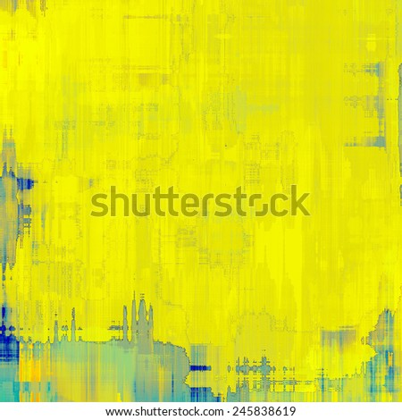 Grunge aging texture, art background. With different color patterns: yellow (beige); gray; blue - stock photo