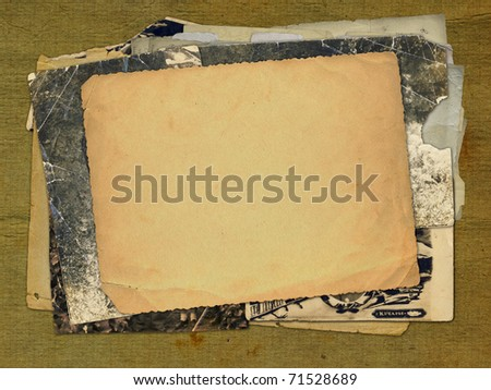 Grunge alienated paper design in scrapbooking style - stock photo