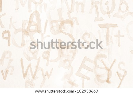 Grunge Alphabet Background - stock photo