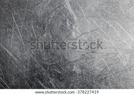 Grunge aluminum textured background with scratches - stock photo