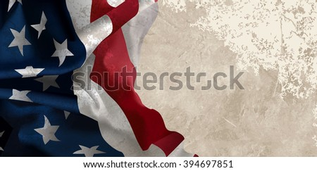 Grunge American flag - stock photo
