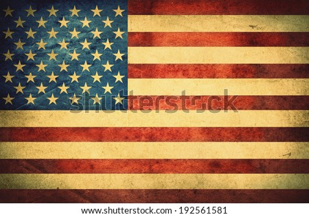 Grunge American flag. Retro stale. - stock photo