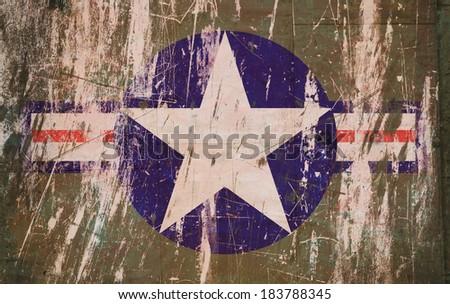 Grunge American Military Symbol - stock photo